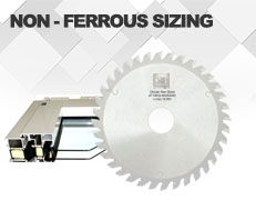 Saw blade for Non-Ferrous Sizing